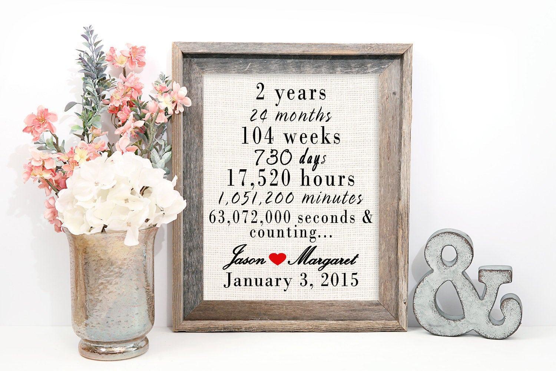Wedding Anniverary Gifts: 2 Year Wedding Anniversary Gift 2nd Wedding Anniversary