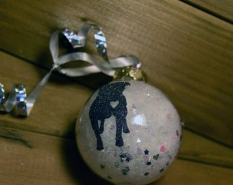 Pit Bull Love Ornament