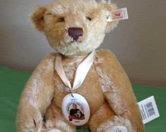 1997 Limited Edition German Steiff Jubilee 150th Anniversary Bear #670190  SIGNED