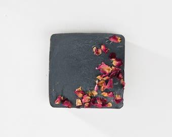 Charcoal Rose Bar Soap / Vegan Soap / Acne Soap / Facial Soap / Detox Soap / Rose Soap / Handmade Soap / Natural Soap /