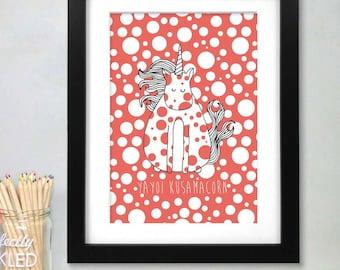 Yayoi Kusama Unicorn Print