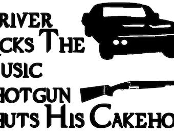 Supernatural: Driver picks the music, Shotgun shuts his cakehole