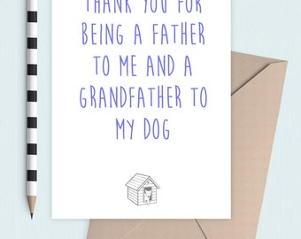 Grandad to my Dog or cat card