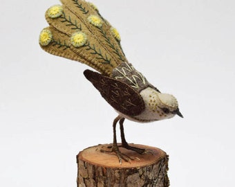 Australian native fibre bird , needlework, sweet bird ornament