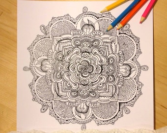 Lace Mandala/coloring page/Instant download/coloring/adult coloring pages/colouring pages/PRINTABLE/coloring pages/download/Lace mandala