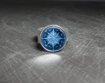 Nautical Ring Ocean Blue Ring Jewelry Nautical Accessory Summer Ring Ocean Jewelry Navy Blue Ring Blue Jewelry Nautical Summer Accessory