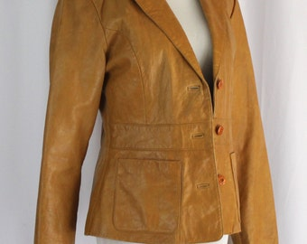 Maxima by Wilsons Leather Camel Jacket