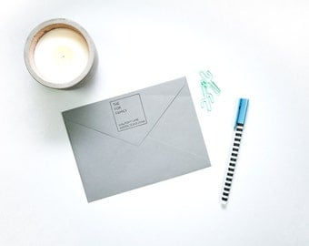 Personalized Address Stamp - Square