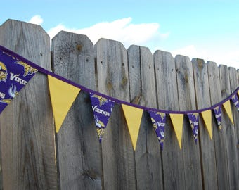 Minnesota Vikings banner, football party, tailgate decoration