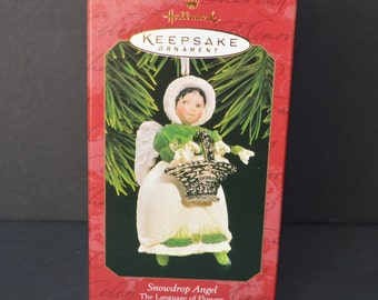 1997 Hallmark Keepsake Snowdrop Angel 2nd in Series The Language of Flowers