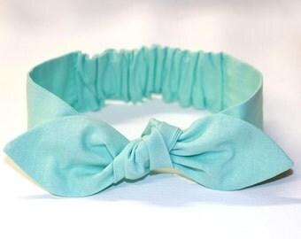"Baby Mint Headband, baby girl headband, baby bow headband, knot headband, ""Hayley"",  newborn, infant, baby, toddler, adult"