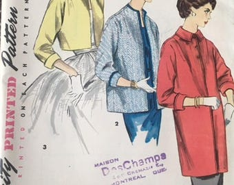 Vintage sewing pattern, Simplicity, 1451, size 14 (bust 32)