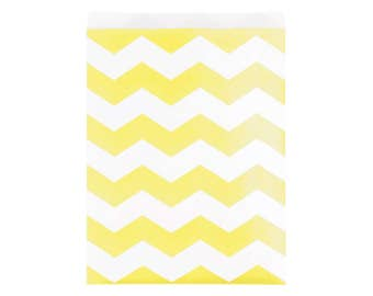 Mimosa Chevron Treat Bags - Yellow Baby Shower - Wedding Favor Bags - Baby Shower Bags - First Birthday - Treat Bag - Birthday Bag - Goodie