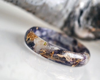 promise rings eco resin ring nature inspired engagement