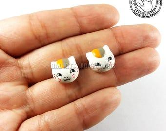 "Madara ""Nyanko Sensei"" Inspired Stud Earrings, Surgical Steel Posts"