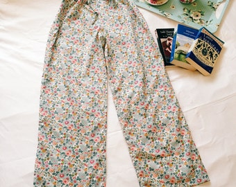 Handmade Liberty of London Print Pyjama Shorts/ Trousers, Ladies Tana Lawn Nightwear