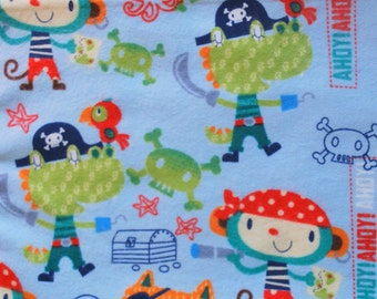 Pirate Animal Print Flannel Baby Blanket
