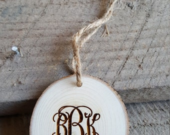 Wooden Monograms Cake Toppers Rustic Accessories By Barnlove