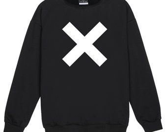 CROSS SWEATER JUMPER womens ladies fun tumblr hipster swag fashion grunge kale punk retro vtg top slogan cute goth music band x festival