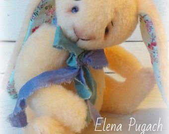 Big sale! Little teddy rabbit Bunny Peach Interior Collectible Bunny Toy Shabby Chic Gift for Her Teddy Toy