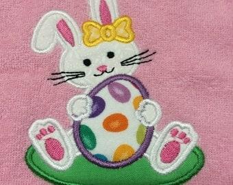 Easter bunny baby bib rabbit bib baby girl bib boy bib cute easter bunny bib personalized infant easter bib infant easter gift girl easter negle Image collections