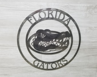 Florida Gators Logo (Home Decor, Football, Sports, Wall Art, Metal Art, {Can Be Personalized})