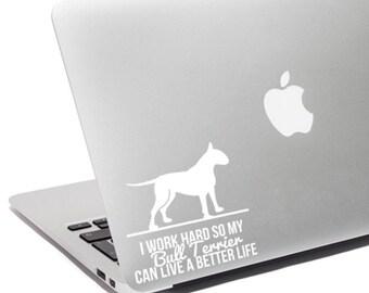 Bull Terrier lover, Bull Terrier gift, Bull Terrier decal, Bull Terrier Sticker, Bull Terrier love, Bull Terrier mom, Bull Terrier vinyl