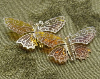 Avon Golden Yellow and Orange Butterfly Pins