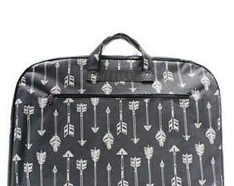 Gray Arrow Garment Bag - Personalized/Monogrammed - Horse Show