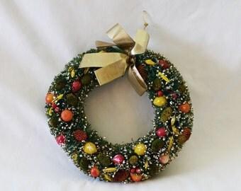 Vintage Bottle Brush Wreath Christmas Decoration