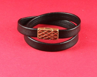 5/8 MADE in EUROPE zamak clasp,  flat cord clasp, 10mm flat cord clasp, leather cord clasp (9639-0357)Qty1