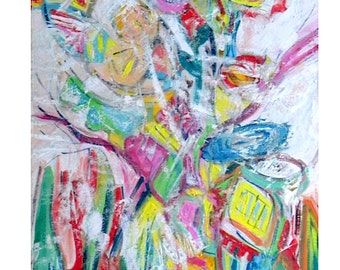 """Abstract oil painting """"Spring has come"""""""