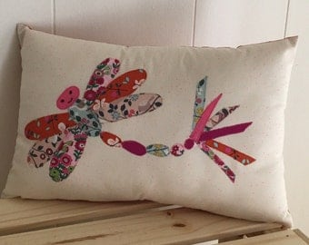 Dragonfly pillow / cushion Dragonfly