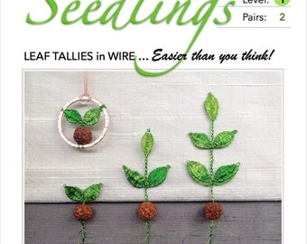 Seedlings - Pattern & Tutorial for Wire Lace :  Step-by-Step Instruction, 25 pages with 75 detailed photographs - PDF Instant Download -
