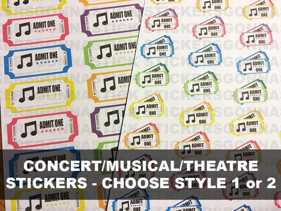 Concert Ticket Stickers Choose Style 1 Or 2 Ideal For. Hindi Text Logo. Hand Logo. Hyperglycemia Signs Of Stroke. Chinese New Year Decals. Teardrop Banners. 21st Banners. Intubated Signs. Narrative Murals