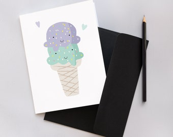 Ice Cream Cone Greeting Card