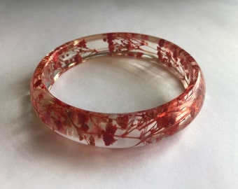 Baby's Breath Red Stacker Bangle