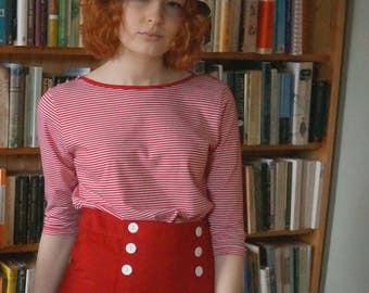 Women's nautical skirt