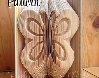 Simple Butterfly - Folded Book Art Pattern - Combination Fold - Instant Download!!