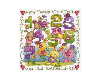 Counting Sampler - Durene J Cross Stitch Pattern