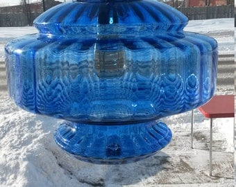 """Inspired  Mid Centuru Modern Glass Table Lamp """"Re-Purposed"""" into a Fab Swag Light!"""