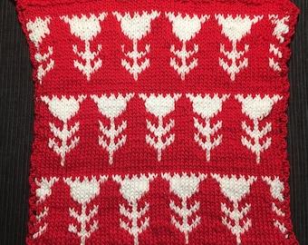 Hand crochet potholder