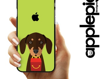 Dachshund Phone Case - Happy Meal   iPhone 5/5S/SE - iPhone 5C - iPhone 6/6S - iPhone 7/7 PLUS - Dog Phone Case