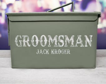 Large Groomsman, Best Man, Father of the Bride Ammo Can