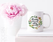Inspiring White Mug 11 oz Dreams Don't Work Unless You Do Watercolor Wreath for GirlBoss Gift for Her Mom Sister Coworker Wife Gift