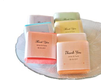 Personalized Wedding Favors, Soap Favors for Guests & Hosts, Thank You Gift Ideas for Gest,Hosts, Baby Shower, Colorful  Scented Soap.