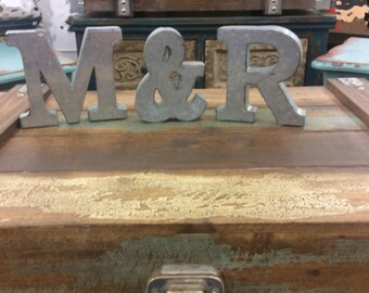 Faux Zinc Letters ~ Bedroom Wall Letters ~ Metal Kitchen Letters ~ Sweetheart Table Letters ~ Fixer Upper Wall Decor ~ Tin Letters ~