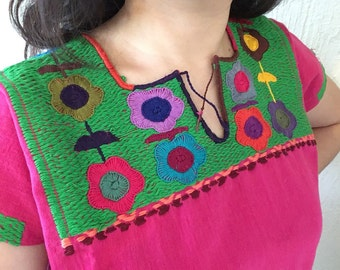 Typical Mexican embroidered blouse-Mitla