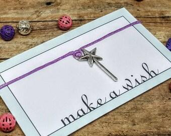 Tooth Fairy Wand, Tooth Fairy Gift, Wizard Bracelet, Magic Wand Bracelet, Tooth Fairy Bracelet, Magic Wish Bracelet, Nerd Gift, Geek Gift