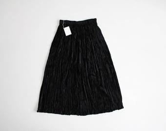 crushed velvet skirt   gothic skirt   black velvet skirt